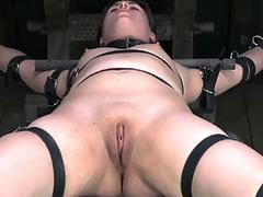Hardcore clamping of hot boobs