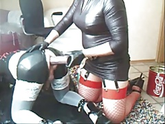 Domme, sissy, toys, fisting
