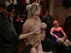 Slave receives a wicked prearrange torture for her twat