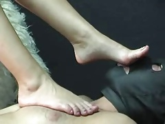 Blonde mistress feet worship