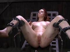 Nicelooking babes nipples gets distressing torturing
