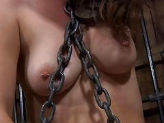 Caged up women are made-up to pleasured each other