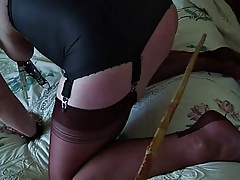 My Bitch is Nyloned & caned
