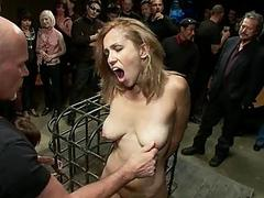 Group unendurable for a breasty ravishing slave