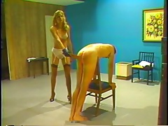 Retro whipping and spanking corrigendum by blonde mistress