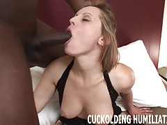 I am going to gag on his black cock while you wait for