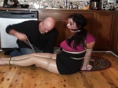 JJ Chesterfieldian housewife hogtied