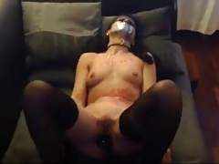 mature sex following whore bound gagged & dildo