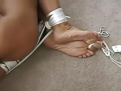 Robbed plus left nude plus hogtied
