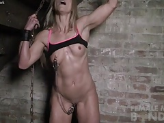 Claire - Nipple Clamps in the Lock-up