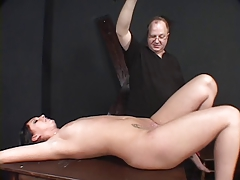 Dark?haired whore, bound & waxed by her master