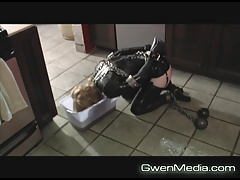 Sisters pt 3 Ball together with Chain Latex Floor Mopping