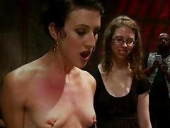 Serf receives a wicked choreograph torment for her slit