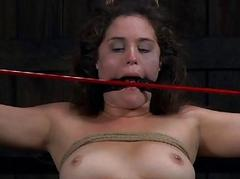 Masked gal is coercive to lick masters hard domestic servant