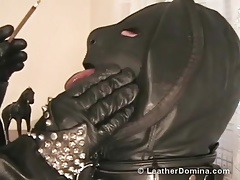 The Leather Domina - Smoking Talisman - Human Ashtray