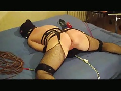 Brutal pussy fisting & ass fucking tied&whipped slut-TRAILER