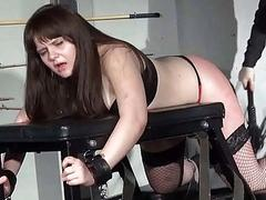 Lisas amateur spanking with the addition of rigid caning of chubby