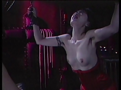 Pansy BDSM punishment watched by two voyeurs