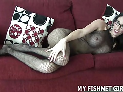 Rub your cock on my fishnets JOI