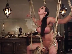 beautiful licking and squirt BDSM