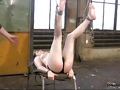 Lussy got hard ass and breast whipped in bondage.