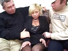 Mature horrific gangbang