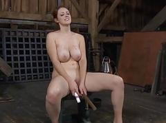 Gal acquires torment for her horny shaved cunt