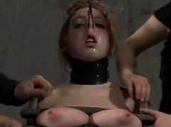 Babes appealing teats acquires painful torturing