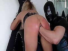 Busty blond related storm-tossed fisted till she squirts