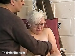 Cute blonde slave Chaos tit tormented to tears coupled with whipped in bondage in the first place the pun