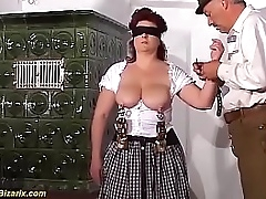 extreme bdsm lesson with big boob german granny