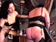 French BDSM couple trains fat slave