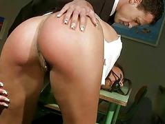 Sexy schoolgirl gets painfully punished