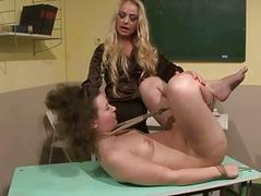 Hot teacher punishing her pupil
