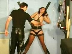 Girl obtaining required to cross spanked upon utilize nipples vacume