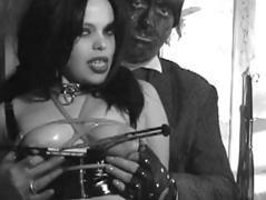 Fetish Unshaded in Dungeon nipple clamps and borders  part 2