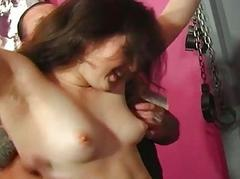 Manhandled womans boobs