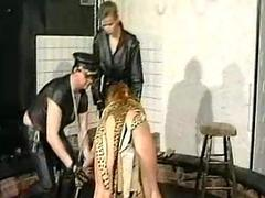 Several slaves in all directions a dungeon got booked spanked and metal clamp