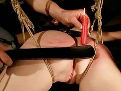 Master playing with his hot sexslave