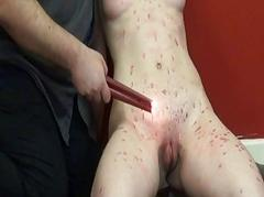 Burning Teen Slavegirl Kami close by tears and torments