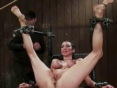 French girl bound with the addition of double penetrated