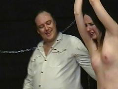 Teen slavegirl Lyarah tied with the addition of distressing to tears