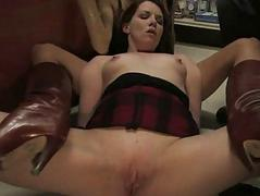 French girl bound and facsimile penetrated