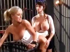 Blonde widely applicable in corset licking mistress huge tits getting her