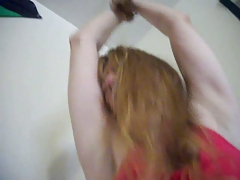 Redhead MILF Daughter Holly gets tied up and dripping wet