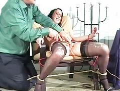 Messy female debasement and extreme domination