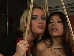 Hot blonde dominating slavegirl