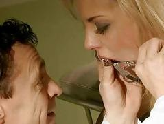 Blonde gets painfully punished