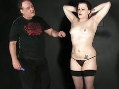 Breast whipping of amateur bdsm babe just about spanking
