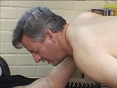 Elder stud gets ass spanked increased by fucked